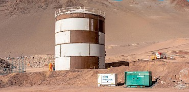 Agglomeration plant: Water tank
