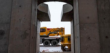 { Secondary crusher – Crushers ready for mechanical installation }