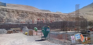 { Tertiary crusher (HPGR) platform foundation; reinforced concrete }