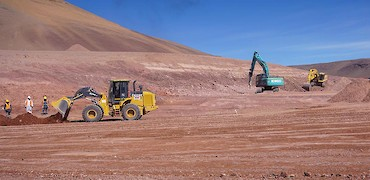 Processing plant earthworks
