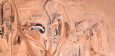Drone view of crushing circuit