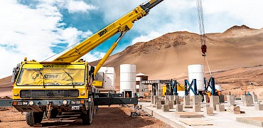 Agglomeration plant: Agglomerator support structure installation work