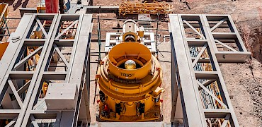 { Secondary crusher: Cone crusher mechanical work }