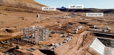 Panoramic view of the ADR and SART plants and the chemical lab