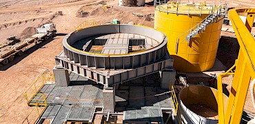 Agglomeration plant: Surge bin structure work