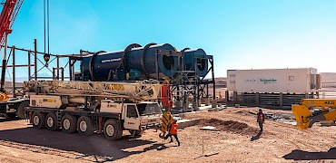 Agglomeration plant: Agglomeration second drum installation work