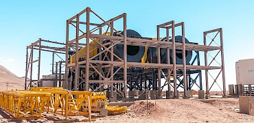 Agglomeration plant: Agglomeration drums structure installation work