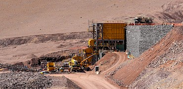 Panoramic view of the primary crusher