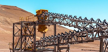 Secondary crusher: Diverter and conveyor belt installation work