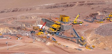 Panoramic view of the secondary crusher