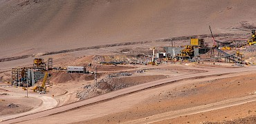 Panoramic view of the secondary and tertiary crushers