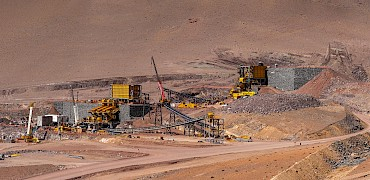 Panoramic view of the primary and secondary crushers