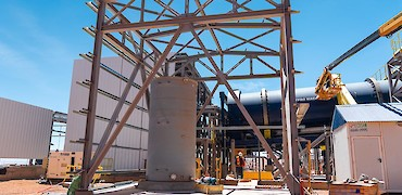 Agglomeration plant: Water treatment room structure erection