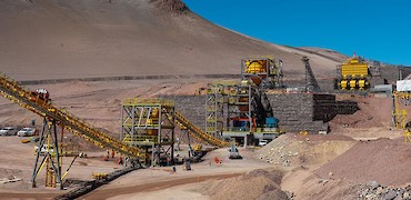 Panoramic view of tertiary crusher from agglomeration plant