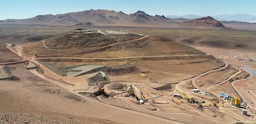 Panoramic view of the Lindero Project