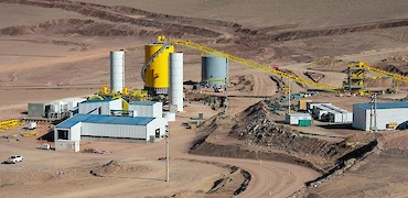 Panoramic view of agglomeration plant