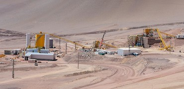 Panoramic view of primary tertiary crusher, flake breaker, and agglomeration plant