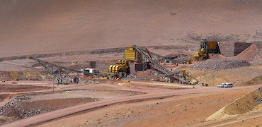Panoramic view of primary and secondary crusher