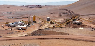 Panoramic view of tertiary crusher and agglomeration plant