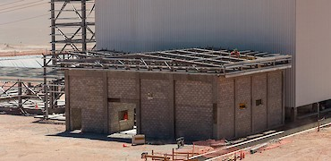 ADR plant: Gold refinery room structure erection