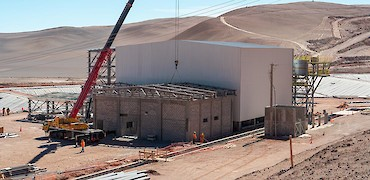 ADR plant: Gold refinery room roof structure erection