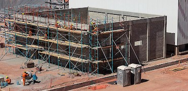 ADR plant: Gold refinery structure erection work