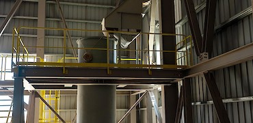 ADR plant: Carbon dewatering screen installation