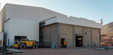 ADR plant: Gold refinery room cladding work