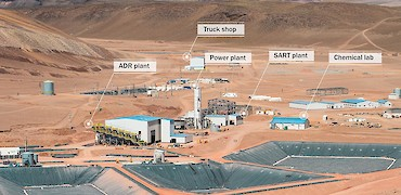 Panoramic view of ADR and SART plants
