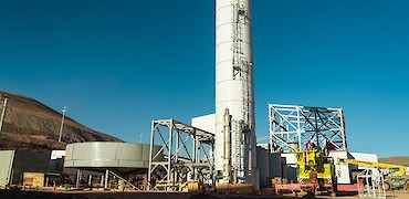 SART plant: Lime tank installation and thickener structure erection