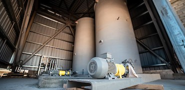 ADR plant: Water tank pumps installation