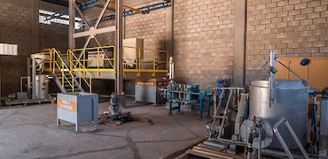ADR plant: Gold refinery room equipment installation