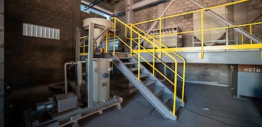 Gold refinery room equipment installation