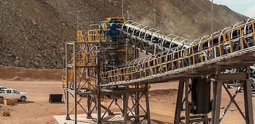 Secondary crushing circuit: Transfer tower pre-commissioning with ore