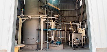 Agglomeration plant: Water treatment room